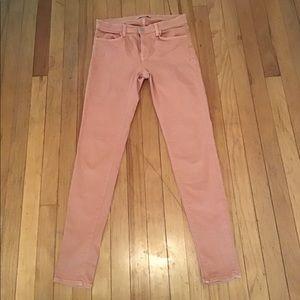 J brand skinny peach jeans